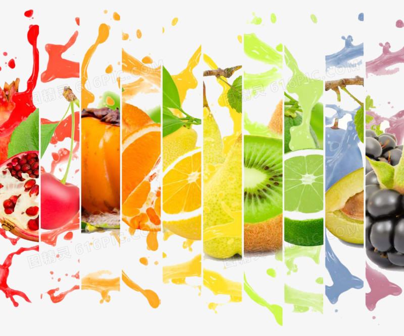 创意水果果汁广告图片免费下载_高清png素材_图精灵