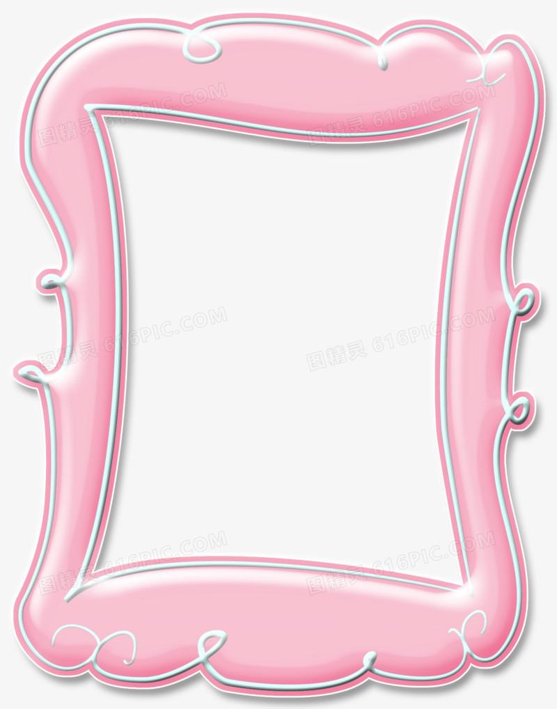 手绘相框素描 粉色边框