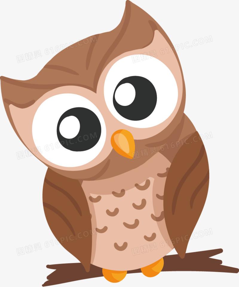 可爱的眼睛画森林动物
