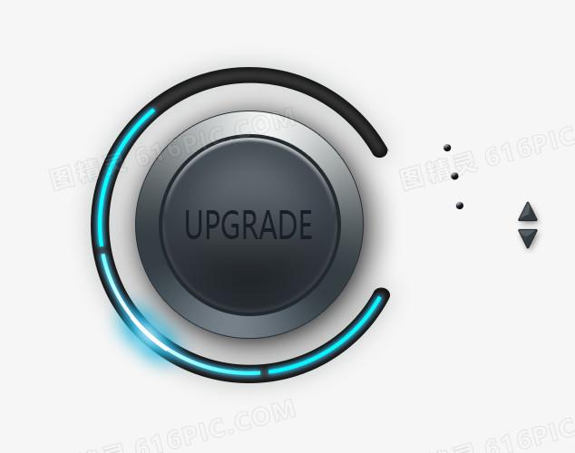 黑色科技感炫光按钮图片免费下载_高清png素材_图精灵