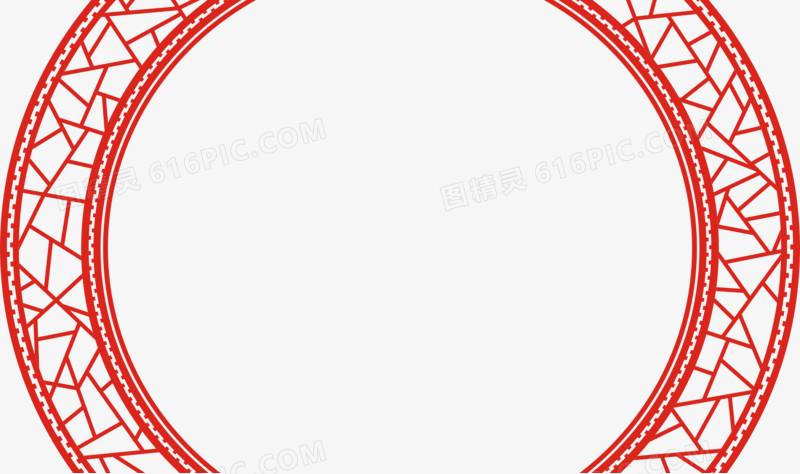 古风边框圆形框中国风框门框窗框