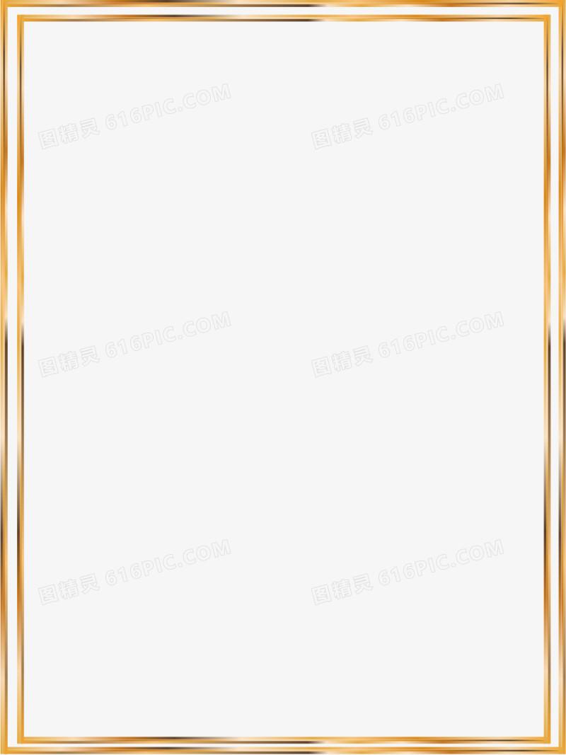 矢量金色线条边框图片免费下载_高清png素材_图精灵