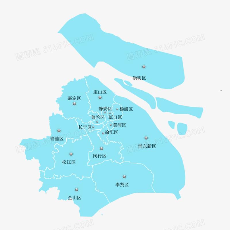 上海市矢量地图免抠元素