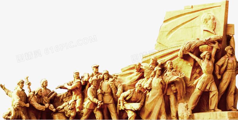 战争人物,战争英雄,石像,7.1建党节素材