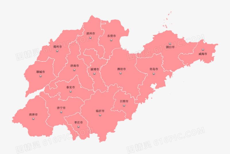 山东省矢量地图元素