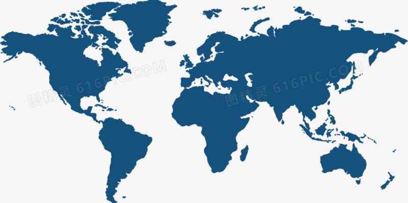 矢量PPT创意设计世界地图图标