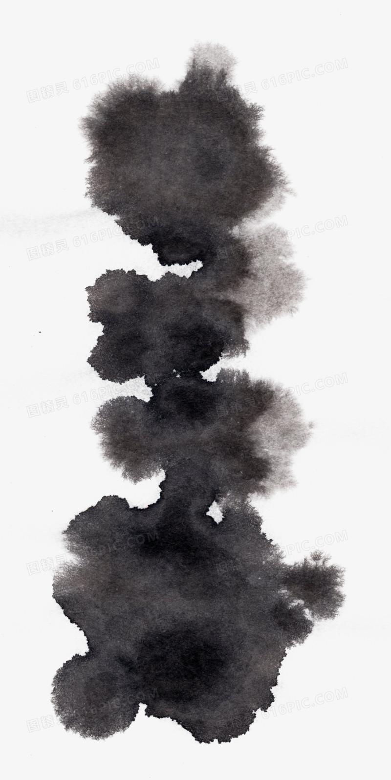 水墨素材水墨笔触素材 中国风墨迹