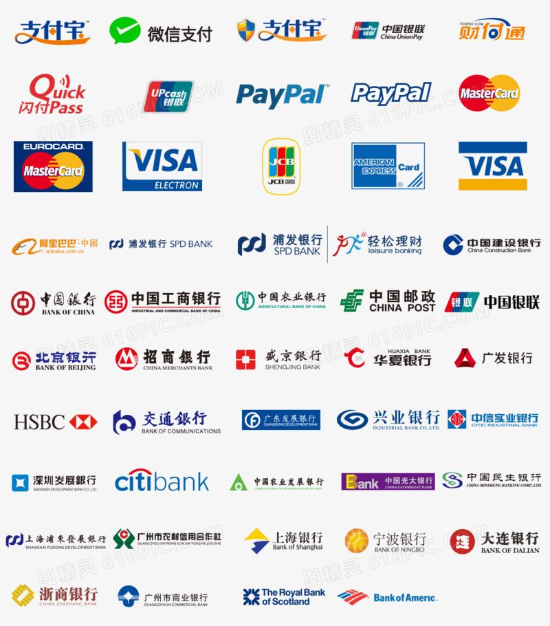 银行支付支付宝银行标志