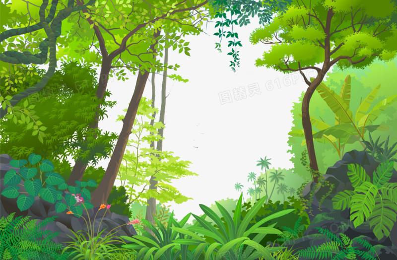 卡通森林图片免费下载_高清png素材_图精灵