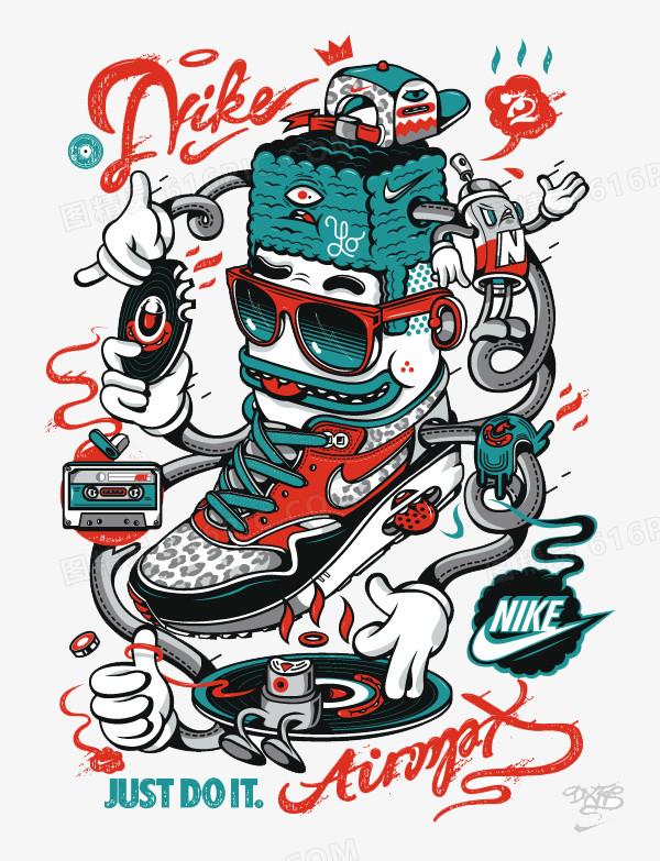 嘻哈耐克球鞋图片免费下载_高清png素材_图精灵
