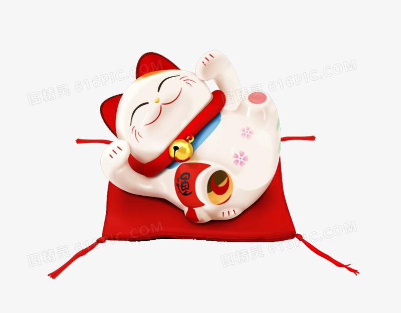 有质感的日本招财猫设计元素