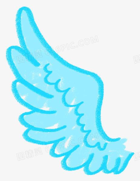 简约翅膀图片 卡通手绘翅膀