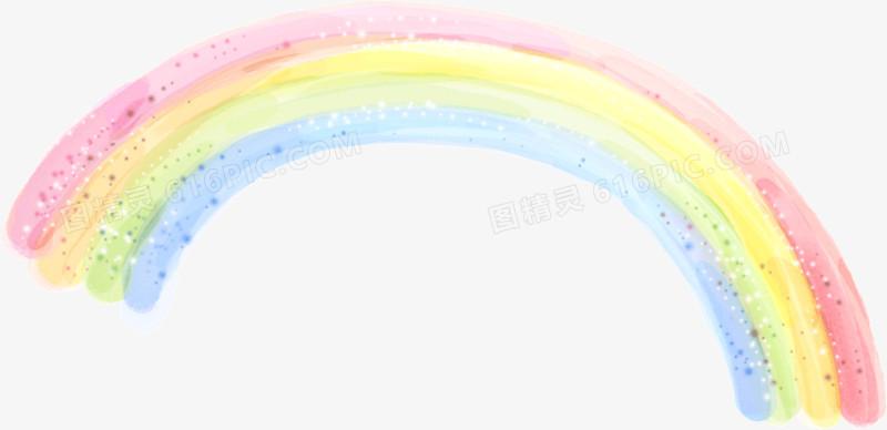 五颜六色可爱蜡笔画彩虹图片免费下载_高清png素材_图
