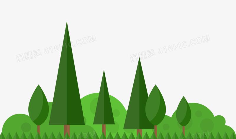 卡通矢量树木树丛图片免费下载_高清png素材_图精灵