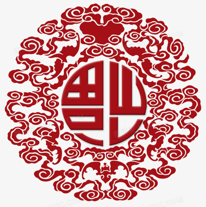 传统花纹福字
