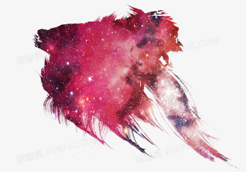 粉红色星空泼墨图片免费下载_高清png素材_图精灵