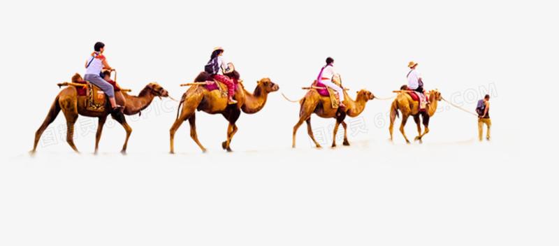 卡通手绘骑骆驼人物图片
