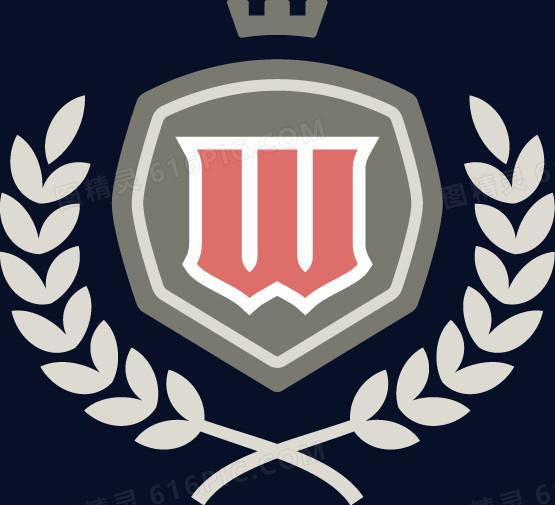w英伦皇冠麦穗盾牌徽章图片免费下载_高清png素材_图