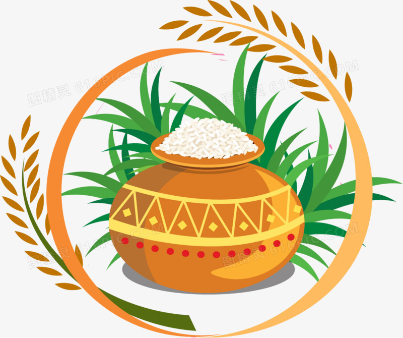 水稻粮食罐图片免费下载_高清png素材_图精灵