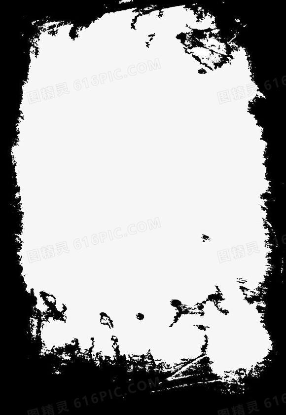 黑色古风边框图片免费下载_高清png素材_图精灵