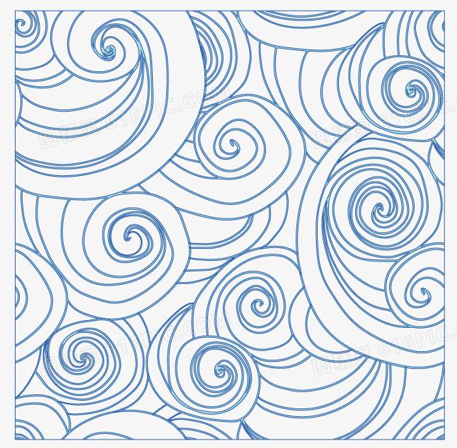 蓝色海洋波浪花纹背景图片免费下载_高清png素材_图
