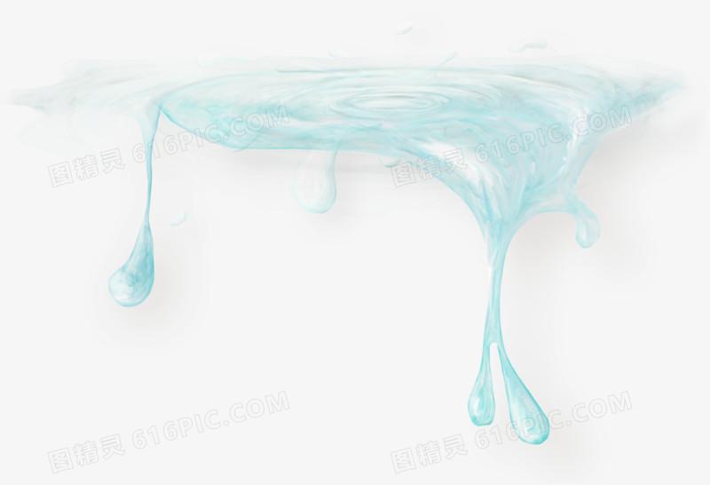 水珠图片手绘海浪 炫酷梦幻水滴
