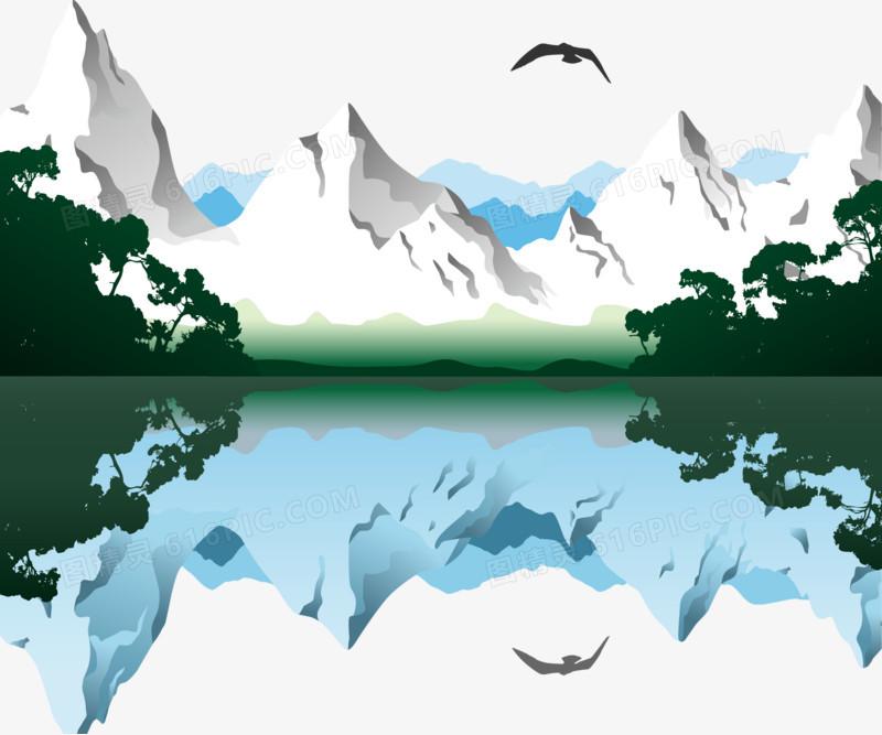 卡通山水风景图片免费下载_高清png素材_图精灵