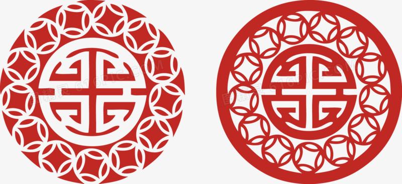 新年春节禄字剪纸窗花鸡年元旦