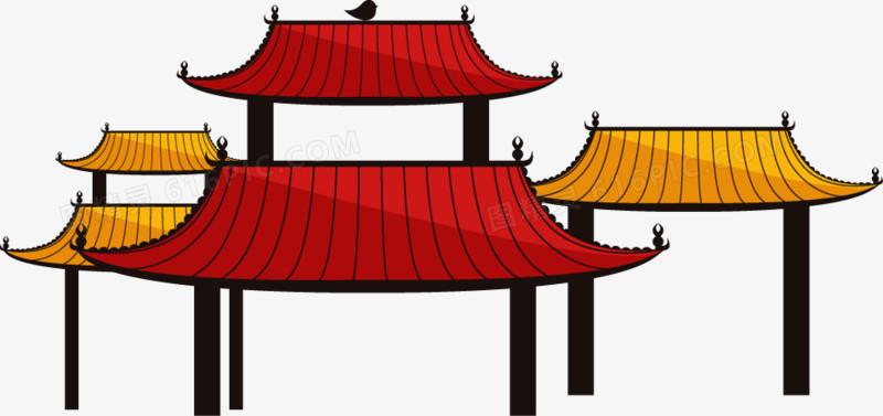 中国风卡通手绘门头
