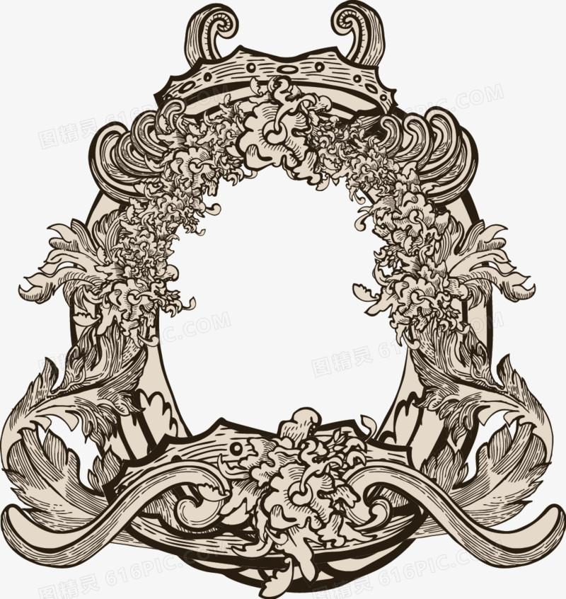 欧式花纹背景矢量素材