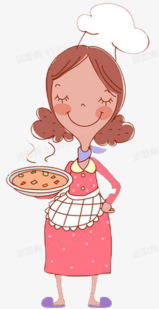 卡通手绘妈妈做的饭菜图片