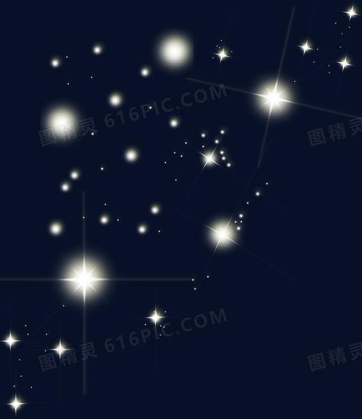 金色闪亮的星空