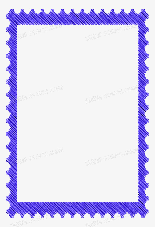 邮票形相框图片免费下载_高清png素材_图精灵
