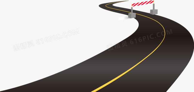 矢量手绘弯曲的道路