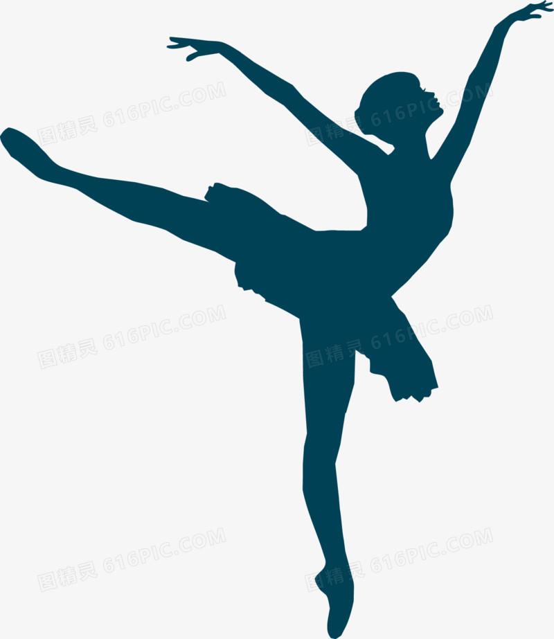 芭蕾舞者剪影矢量图