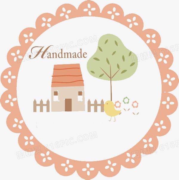 手绘圆形轮廓房子背景图片免费下载_高清png素材_图