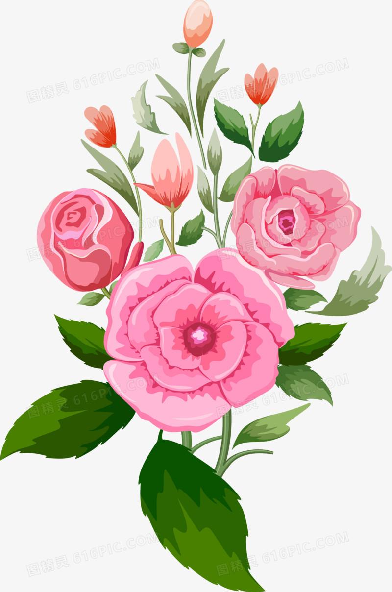 粉色一束花图片免费下载_高清png素材_图精灵