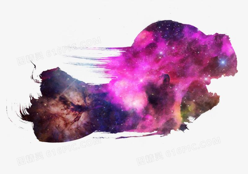 深紫色星空泼墨图片免费下载_高清png素材_图精灵