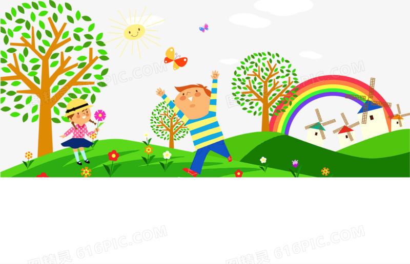 图精灵 免抠元素 卡通手绘 > 幼儿园墙画psd图片免费下载   图精灵为