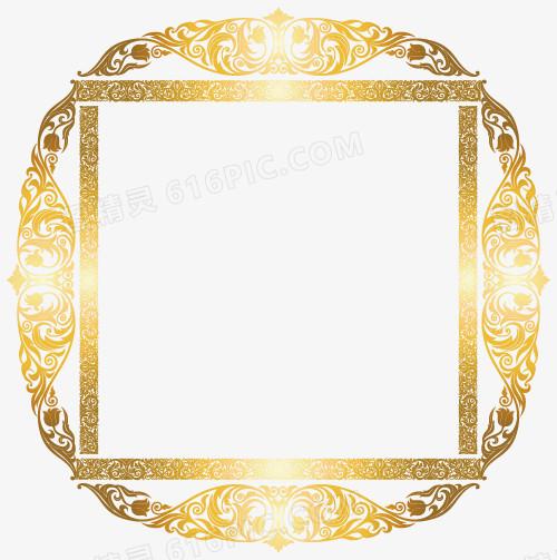 欧式华丽金色边框