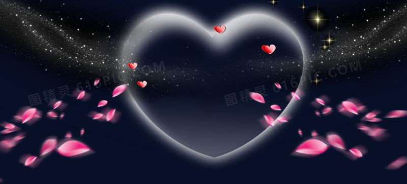 情人节爱心花瓣背景素材