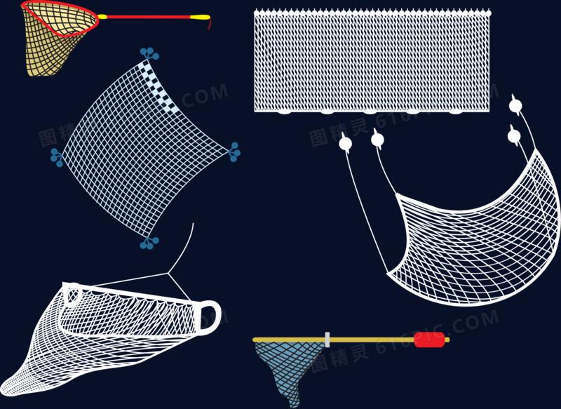 矢量图渔网