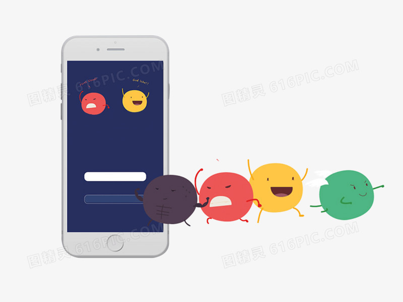 苹果手机扁平化创意图片免费下载_高清png素材_图精灵
