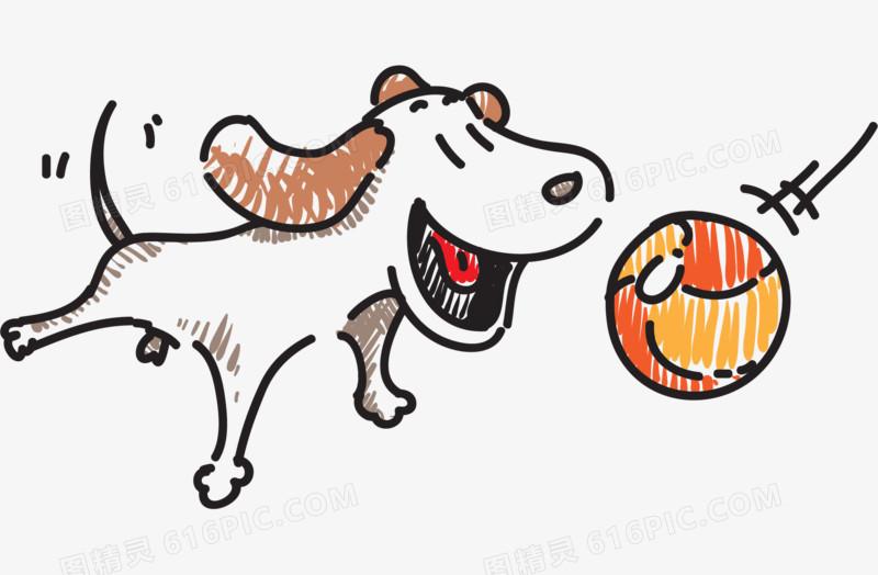 卡通手绘小狗