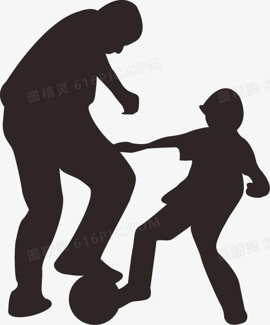 父亲和孩子剪影图片免费下载_高清png素材_图精灵