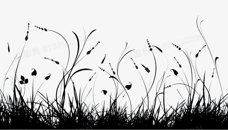 芦苇剪影花纹图片免费下载_高清png素材_图精灵