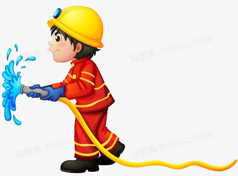 卡通消防图片免费下载_高清png素材_图精灵