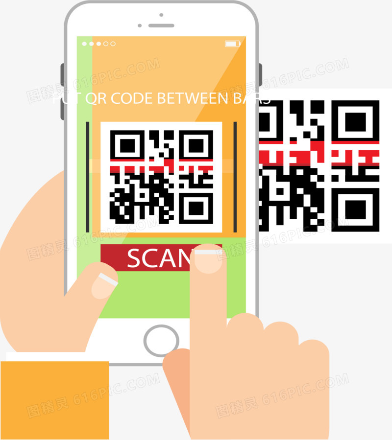 双手手机扫描二维码图片免费下载_高清png素材_图精灵