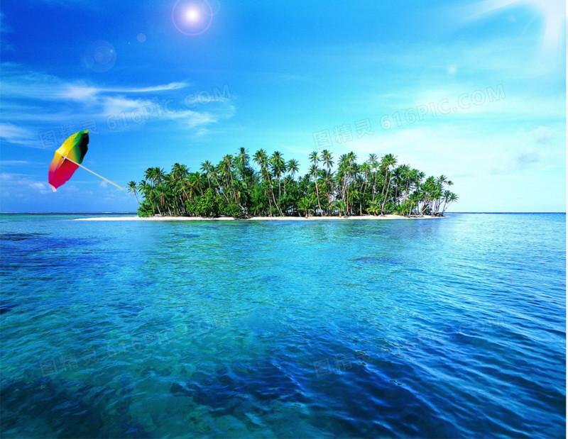 夏日大海背景图图片免费下载_高清png素材_图精灵