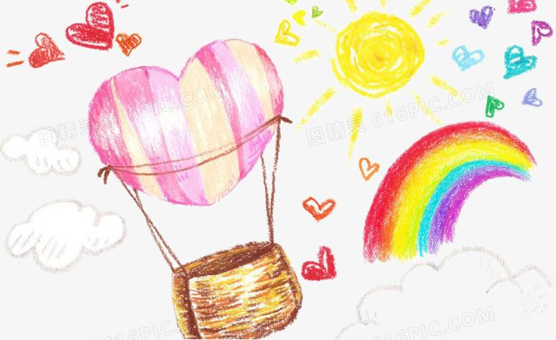 彩虹手绘插画